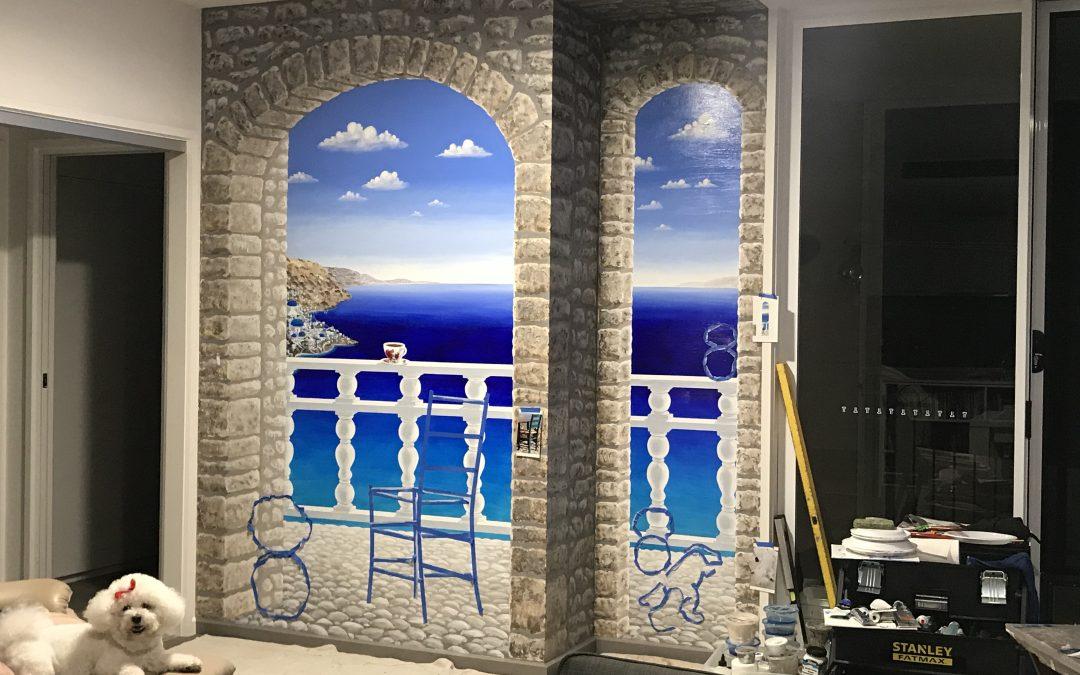Trompe Santorini Day 14 – Balustrade and stonework